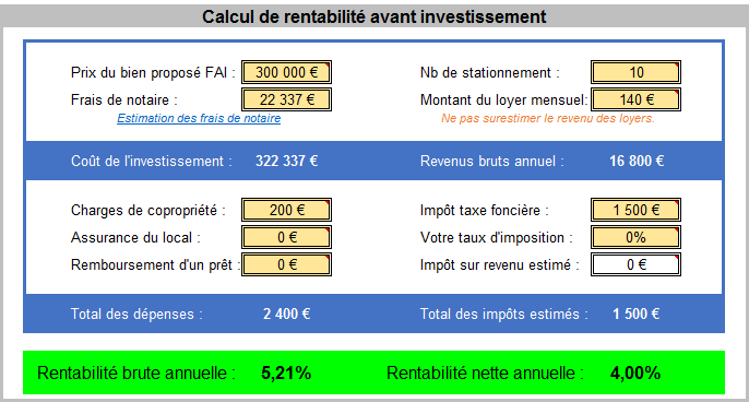 Analyse lot de garages en vente sur Pontoise