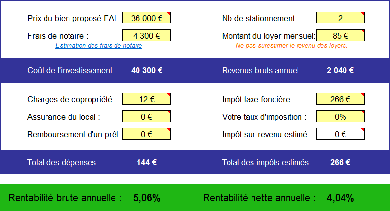 Analyse de deux parkings à Montreuil