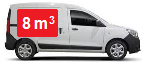 Camionnette d`une capacité de 5 m3