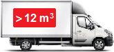 Camionnette d`une capacité supérieure à 12 m3