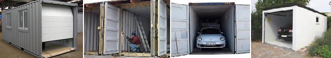 construire un garage avec des containers