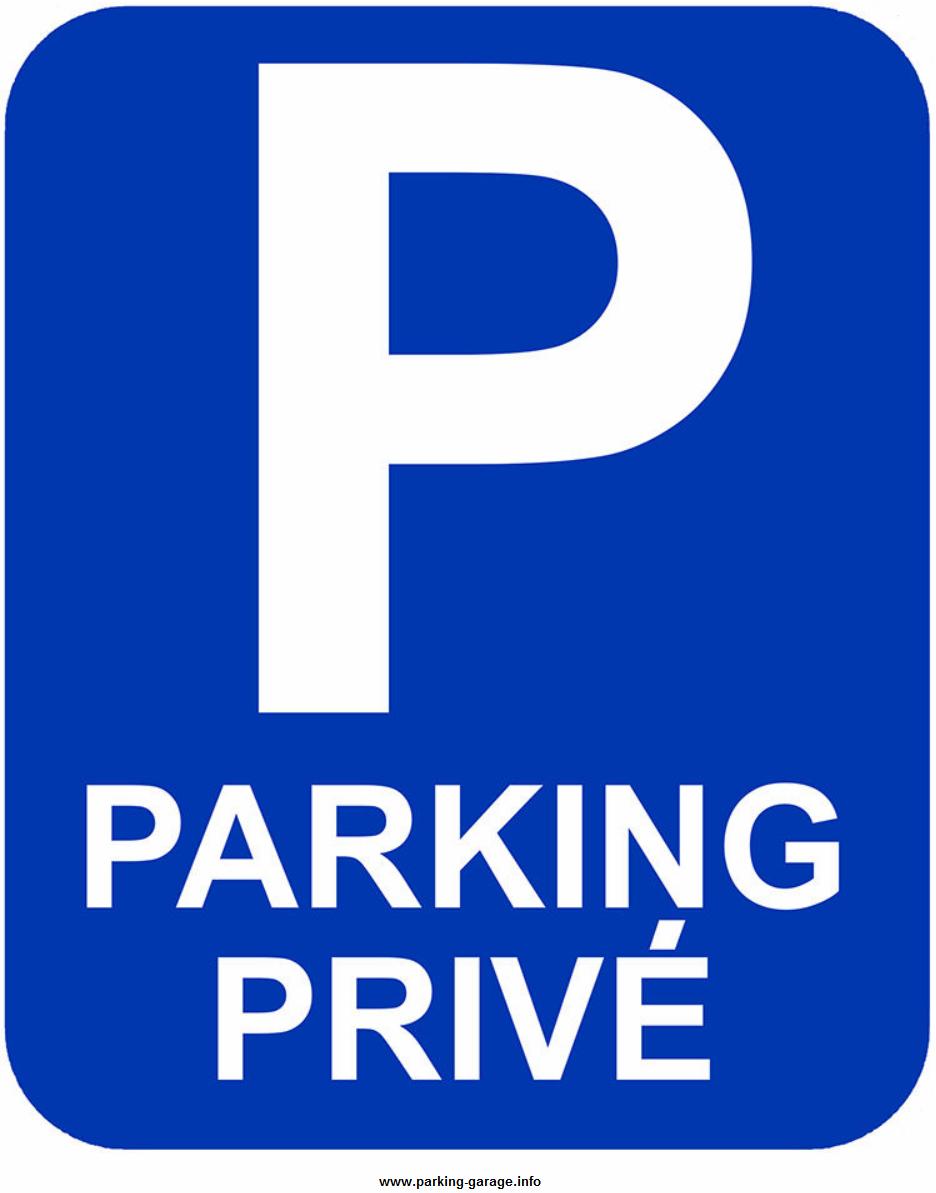 Panneau signalétique parking privé
