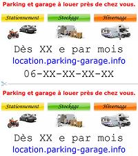 Modèle 4 d`affiche publicitaire pour louer un garage