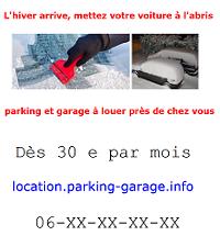 Modèle 6 daffiche publicitaire pour louer un garage