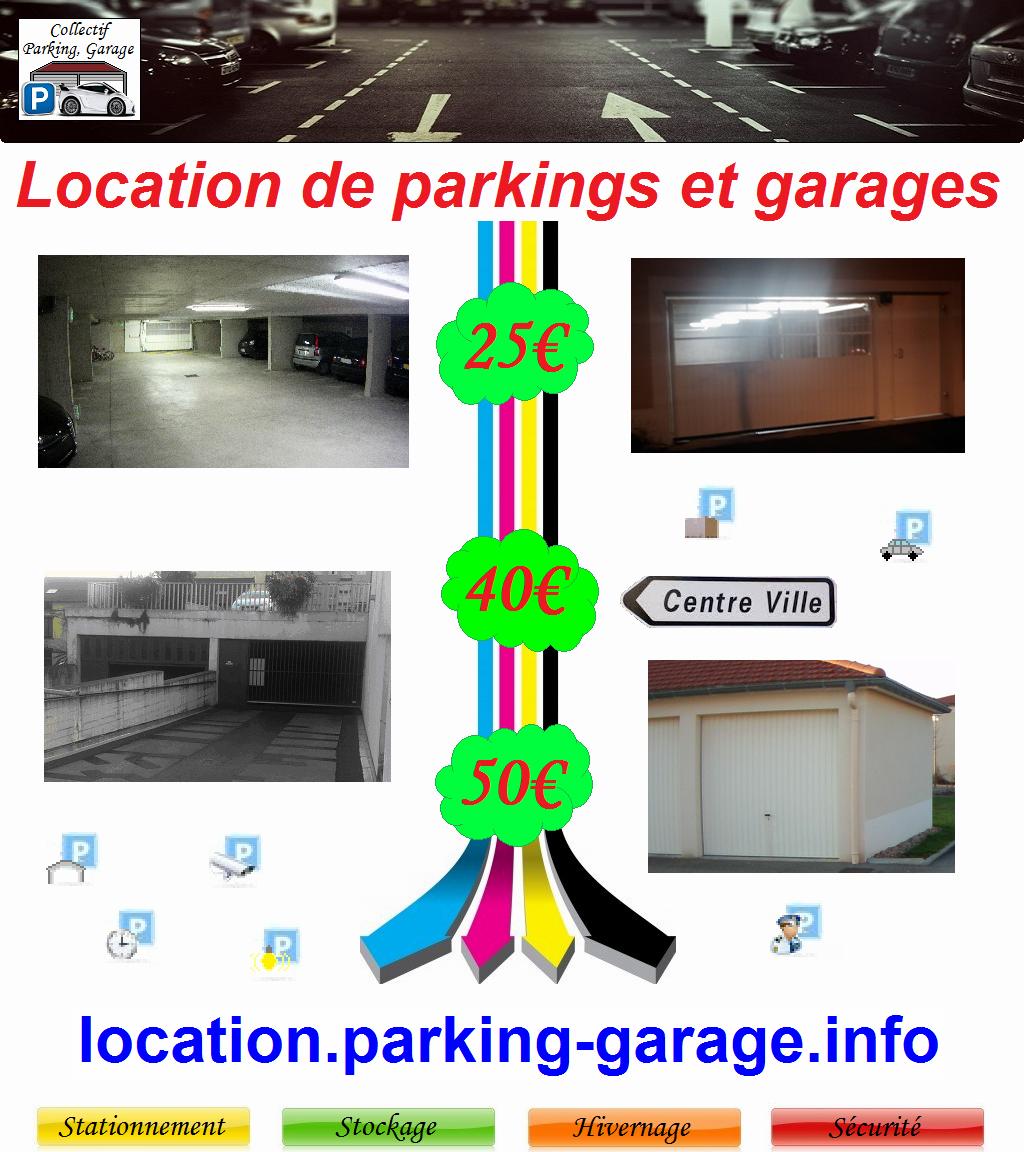 Modèle d`affiche publicitaire pour louer un garage